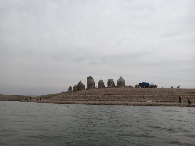 A temple at a riverbank