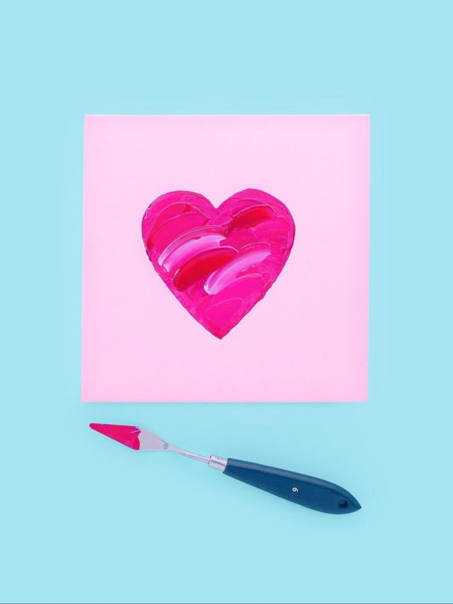 A heart shape made with water colors