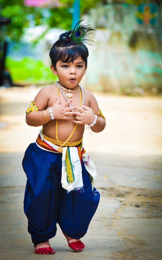 Little baby in Krishna Avtar