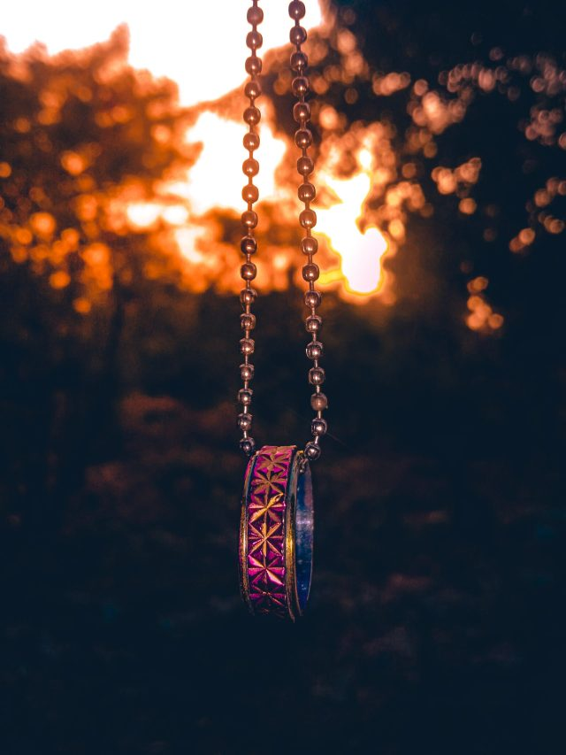 A beaded chain