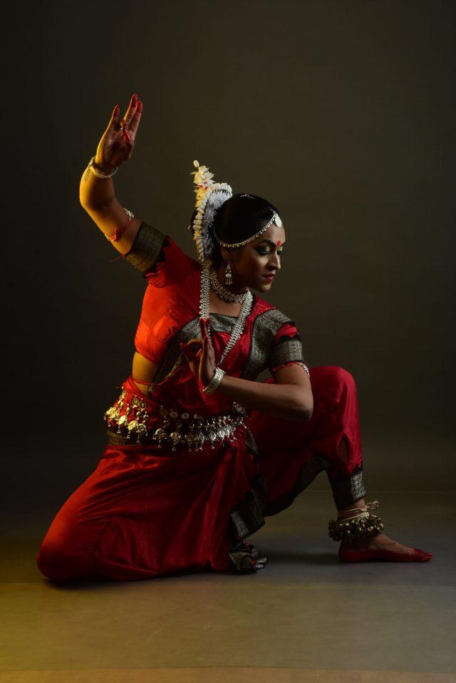 Girl posing while dancing