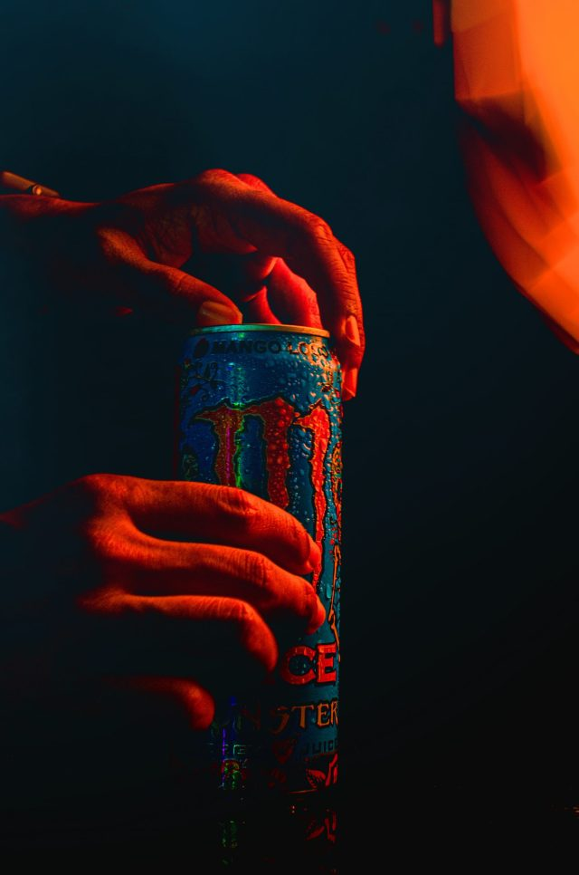 Opening a Monster drink can