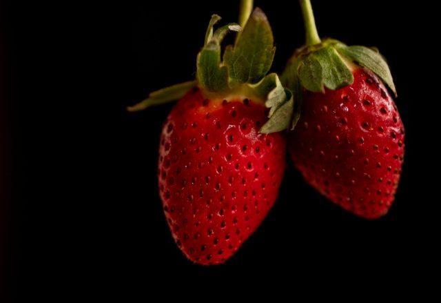 Strawberries in the dark