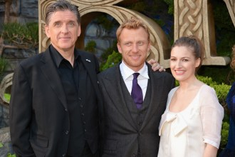 (L-R) Craig Ferguson, Kevin McKidd, and Kelly Macdonald