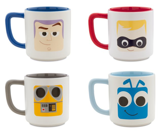D23 Expo Disneypixar Products Mug Set 2