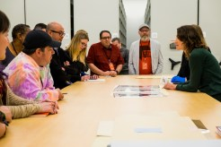 Archives Manager Juliet Roth at Incredibles 2 Long Lead Press day, as seen on April 5, 2018 at Pixar Animation Studios in Emeryville, Calif. (Photo by Marc Flores)