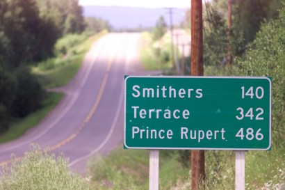 A stretch of highway between Smithers and Burns Lake