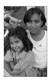 two girls at the Casa Hogar Alegre