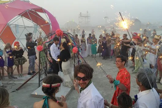 What Its Like To Get Married At Burning Man NYMag