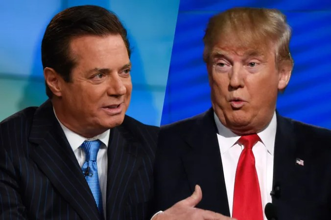 Paul Manafort and Donald Trump