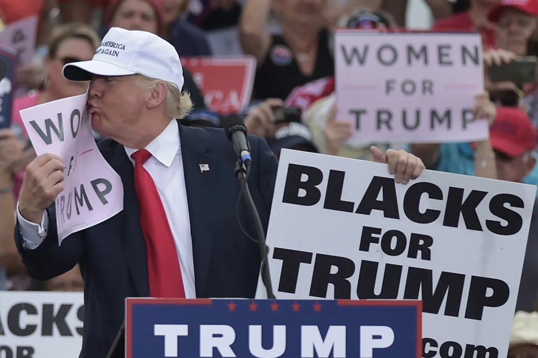 Image result for The strange story of that 'Blacks for Trump' guy standing behind POTUS at his Phoenix rally