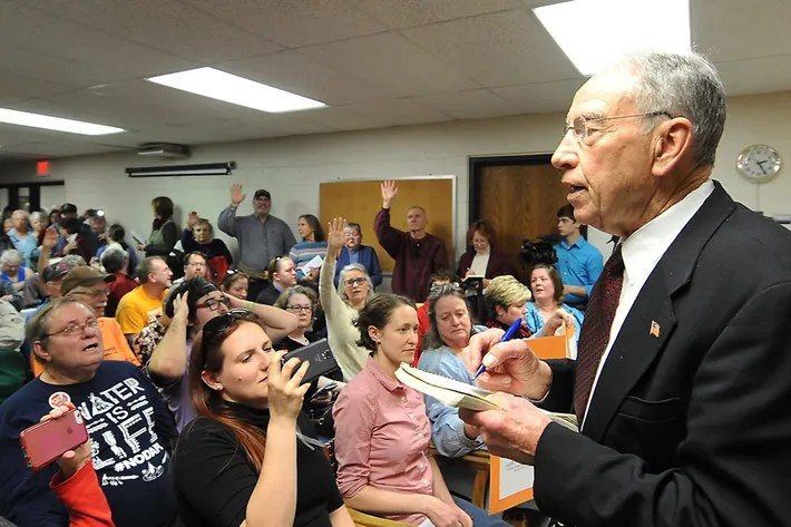 Image result for PHOTOS OF REPUBLICANS TOWN HALL MEETINGS