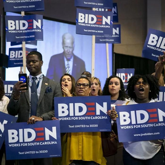 Black supporters of 2020 presidential candidate Joe Biden.