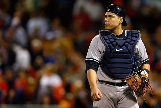 Russell Martin #55 of the New York Yankees plays against the Boston Red Sox during the game on September 11, 2012 at Fenway Park in Boston, Massachusetts.