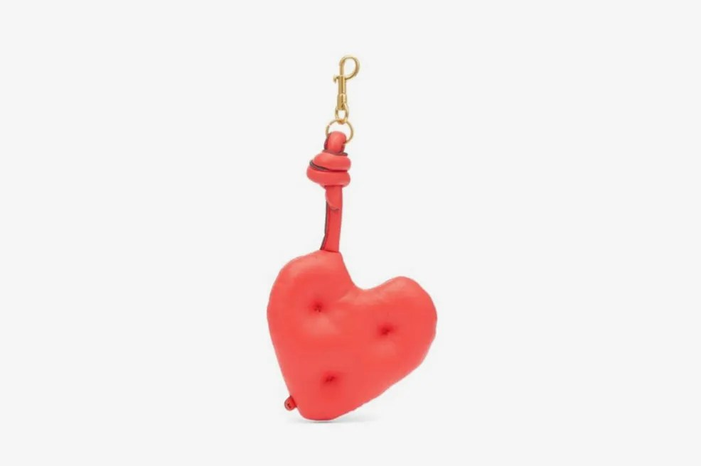 Anya Hindmarch Heart Chubby Leather Charm