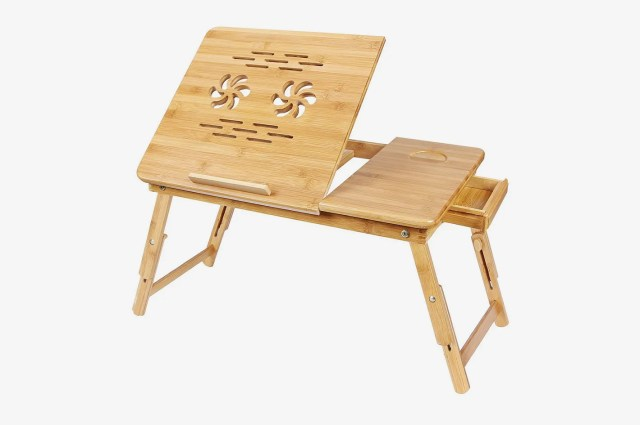 Songmics Bamboo Laptop Desk Serving Bed Tray Breakfast Table