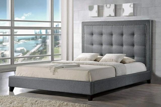 Baxton Studio Hirst Platform Bed — Queen