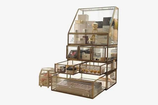 Antique 4-Tier Makeup Storage Cube