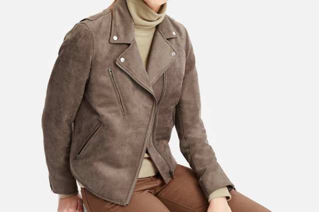 Uniqlo Women's Faux Suede Riders Jacket