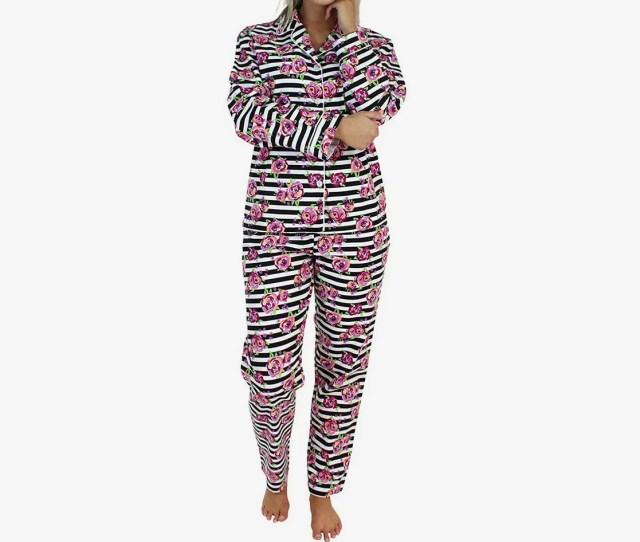 Pajamamania Womens Sleepwear Flannel Long Sleeve Pajamas At Amazon
