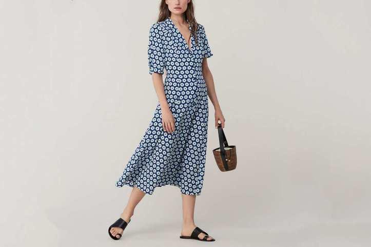 Diane von Furstenberg Lily Silk Crepe De Chine Midi Dress