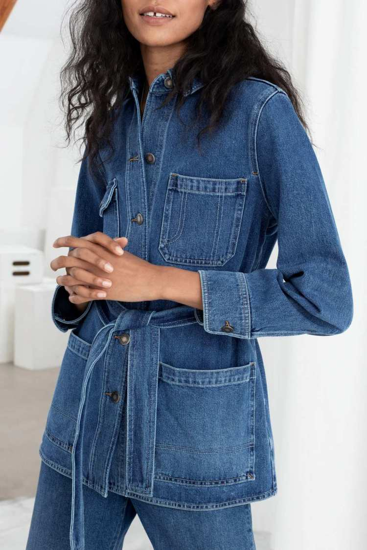 Belted Workwear Denim Jacket