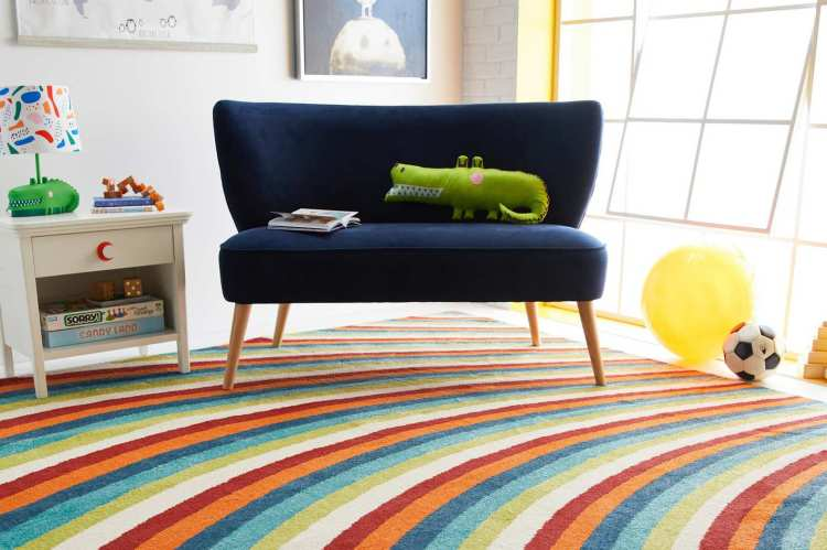 Drew Barrymore Flower Kids Rainbow Area Rug, 5' x 7'