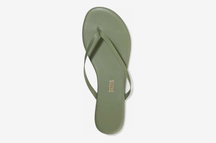 TKEES Leather Flip Flops