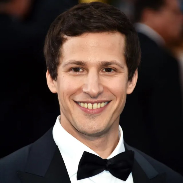 Andy Samberg Poses On The Red Carpet For The 87th Oscars On February 22 2015