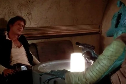 Image result for han solo and greedo