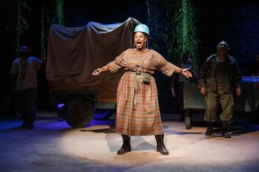 Kecia Lewis as Mother Courage, at Classic Stage Company. Photo: Joan Marcus