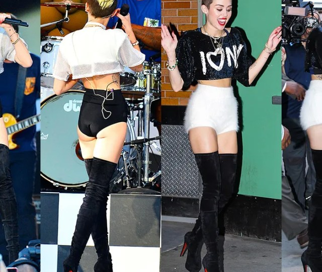 Promoting Her Song We Cant Stop And Other Personal Reinventions This Week Miley Cyrus Unveiled A New Silhouette And Wore It Twice In Two Days