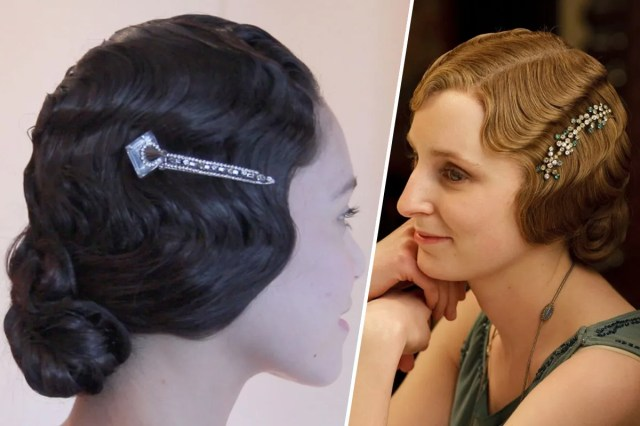 beauty gif: how to get finger waves like lady edith on downton