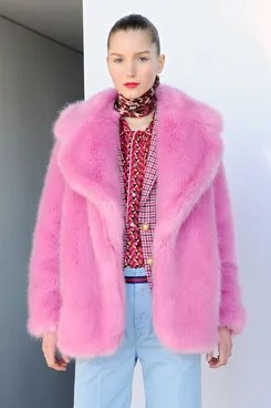 JCrew Really Hit The Jackpot With This Pink Faux Fur Jacket