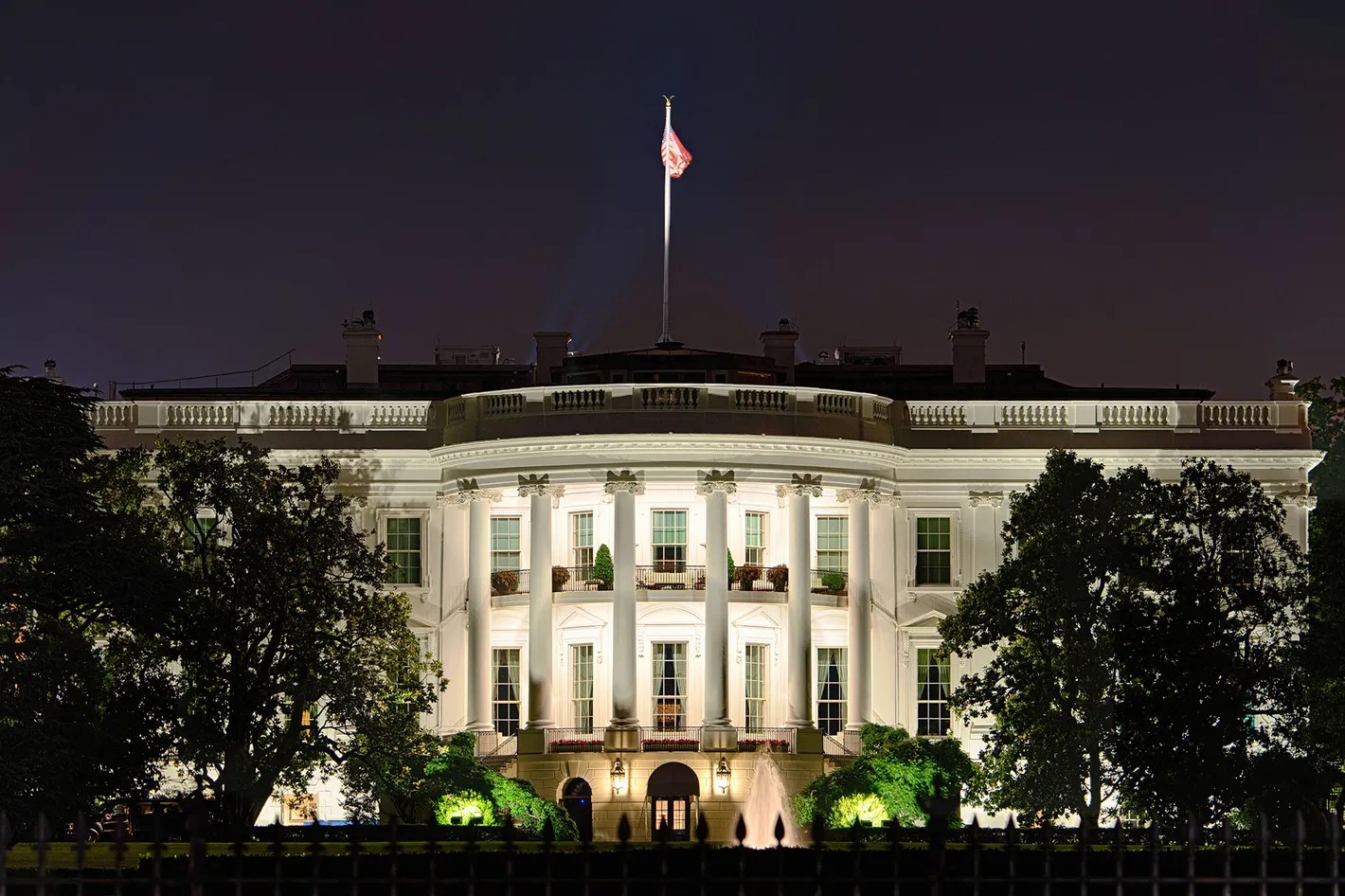 Image result for white house at night pictures