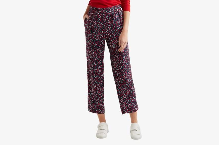 Vanessa Seward Cropped silk-jacquard straight-leg pants
