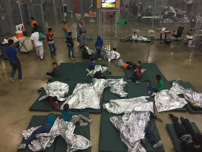 Detention center in McAllen, Texas.