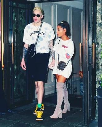 Ariana Grande Wears Space Buns And NASA Sweatshirt To Brunch