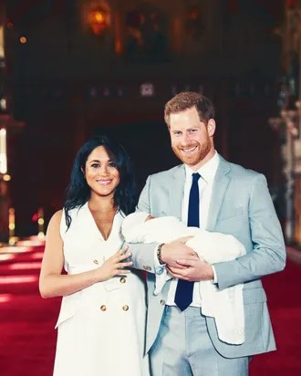 Meghan Markle And Prince Harry With Their New Son