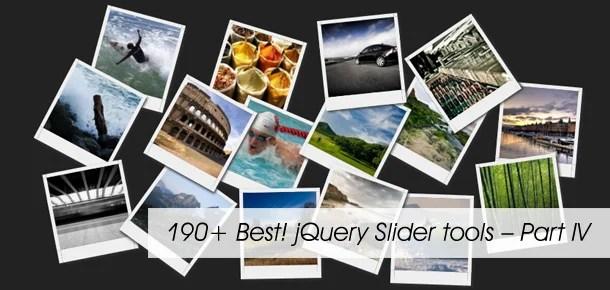 190+ Best! jQuery Slider tools – Part IV - Pixel2Pixel Design