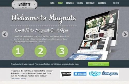 Magnate: Professional Website PSD Template
