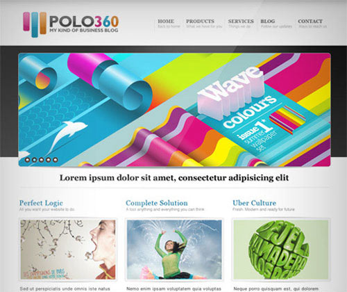 Polo360 Portfolio Site PSD Template