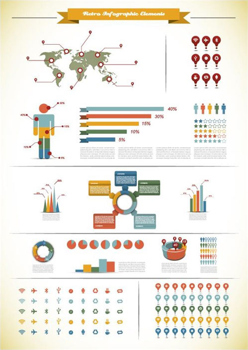Charts-and-Reports-Retro-Infographics