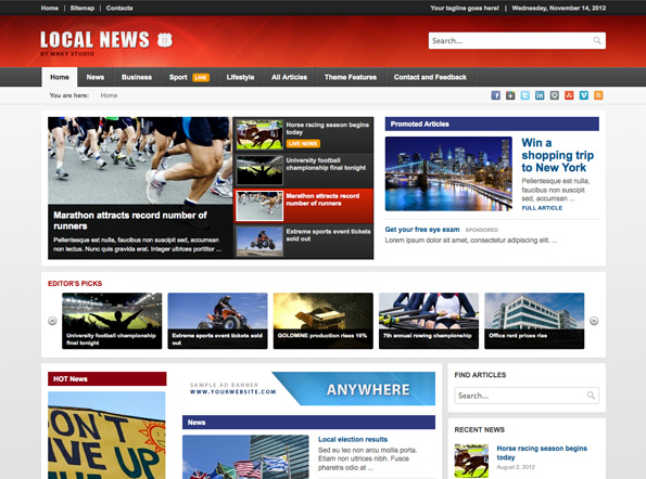 Local News - WP News Theme with Mobile Version