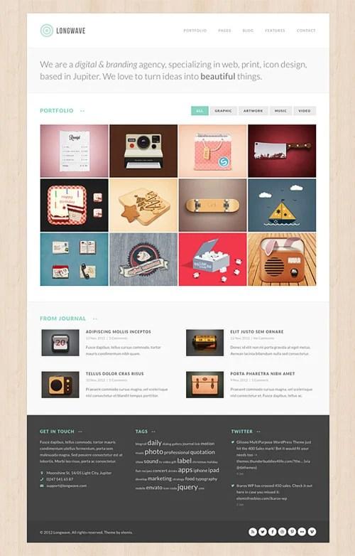 Longwave Free Homepage PSD