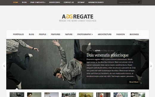 Aggregate Magazine Theme by  Elegant Themes