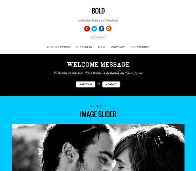 Bold flat WordPress theme