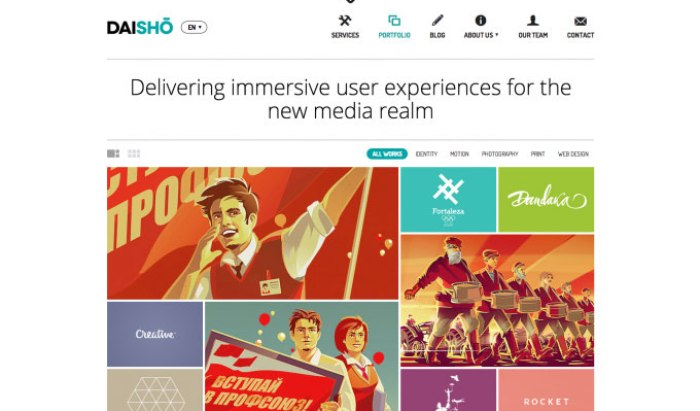 Daisho flat WordPress theme