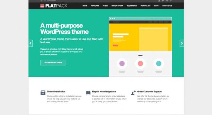 FlatPack flat WordPress theme