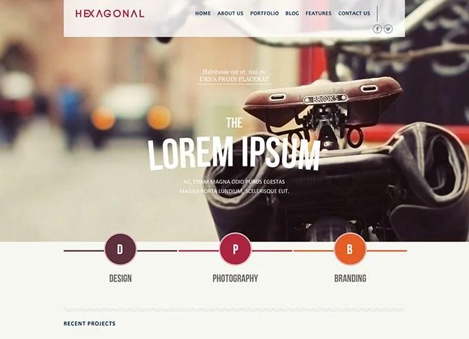 Hexagonal flat WordPress themes